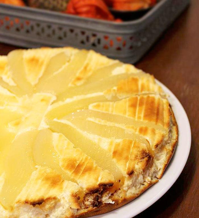 Low Carb Kuchen Rezept | Käsekuchen mit Birnen