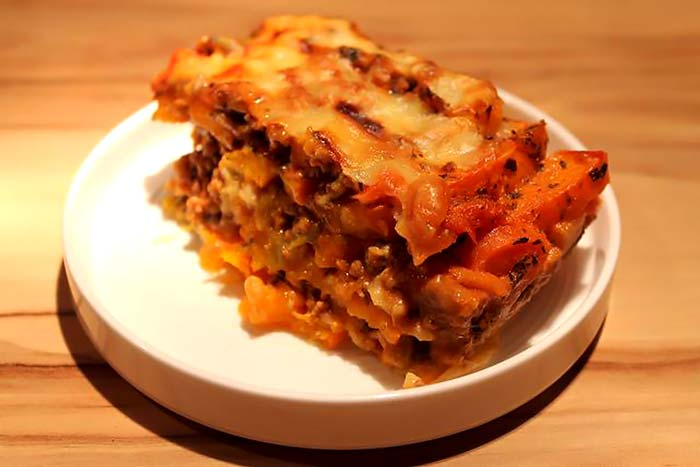 Low Carb Rezept | Low Carb Lasagne mit Kürbis