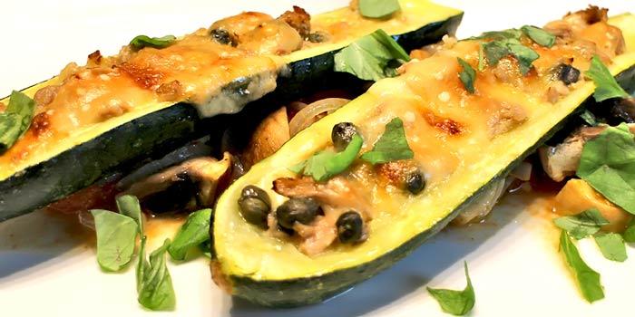 Low Carb Rezept | Zucchini mit Thunfisch und Kapern