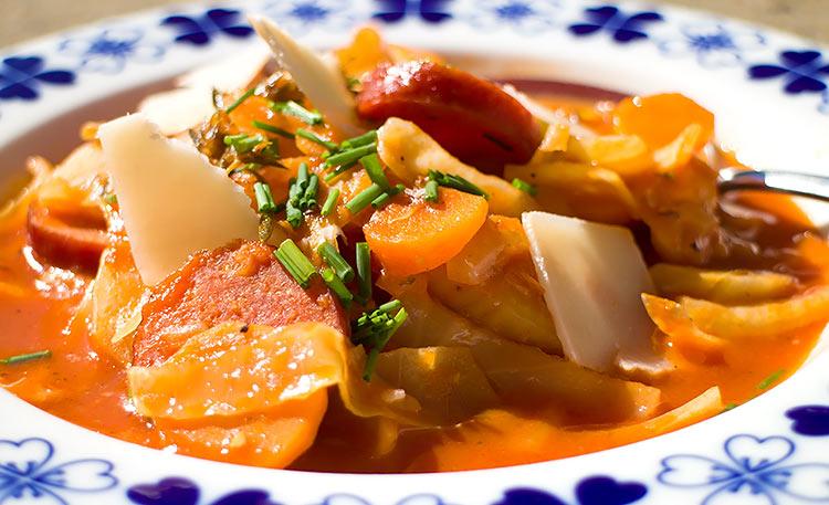 Low Carb Rezept Italienischer Fencheltopf mit Cabanossi